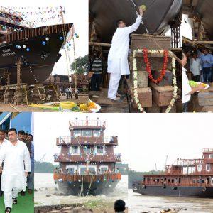 "Launching of 3rd 250 Men Passenger Ferry – ""MANOHAR"" held on 31st July 16"